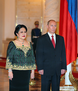 Queen Sirikit and Vladimir Putin