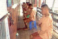 prisoners in Bangkwang central in Bangkok