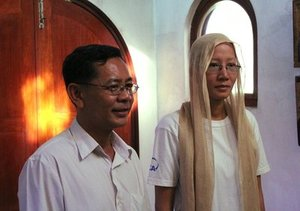 Munn Mony (Matthew) and Chheav Primprey (Paraskeva), after their Baptism in St.George Church in Phnom Penh