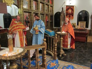 Paschal service in Holy Dormition monastery