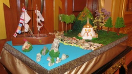 Sunday School students created model of «The arrival of St. Relics of Saint Nicholas in Phuket»