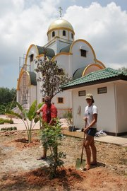 A working Saturday for landscaping and planting at the Holy Trinity Church in Phuket