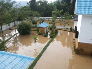 Flood in Holy Dormition monastery in Ratchaburi (09.11.2013)