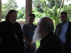 Discussion of a number of social projects implemented by the local administration, with the assistance of the Holy Dormition Monastery in Ratchaburi