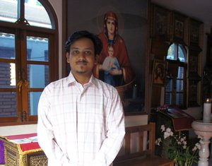 Mr. Polycarp (Rohan Rayprakash) Nehamaiyah - a citizen of India, learning liturgical practices in Thailand
