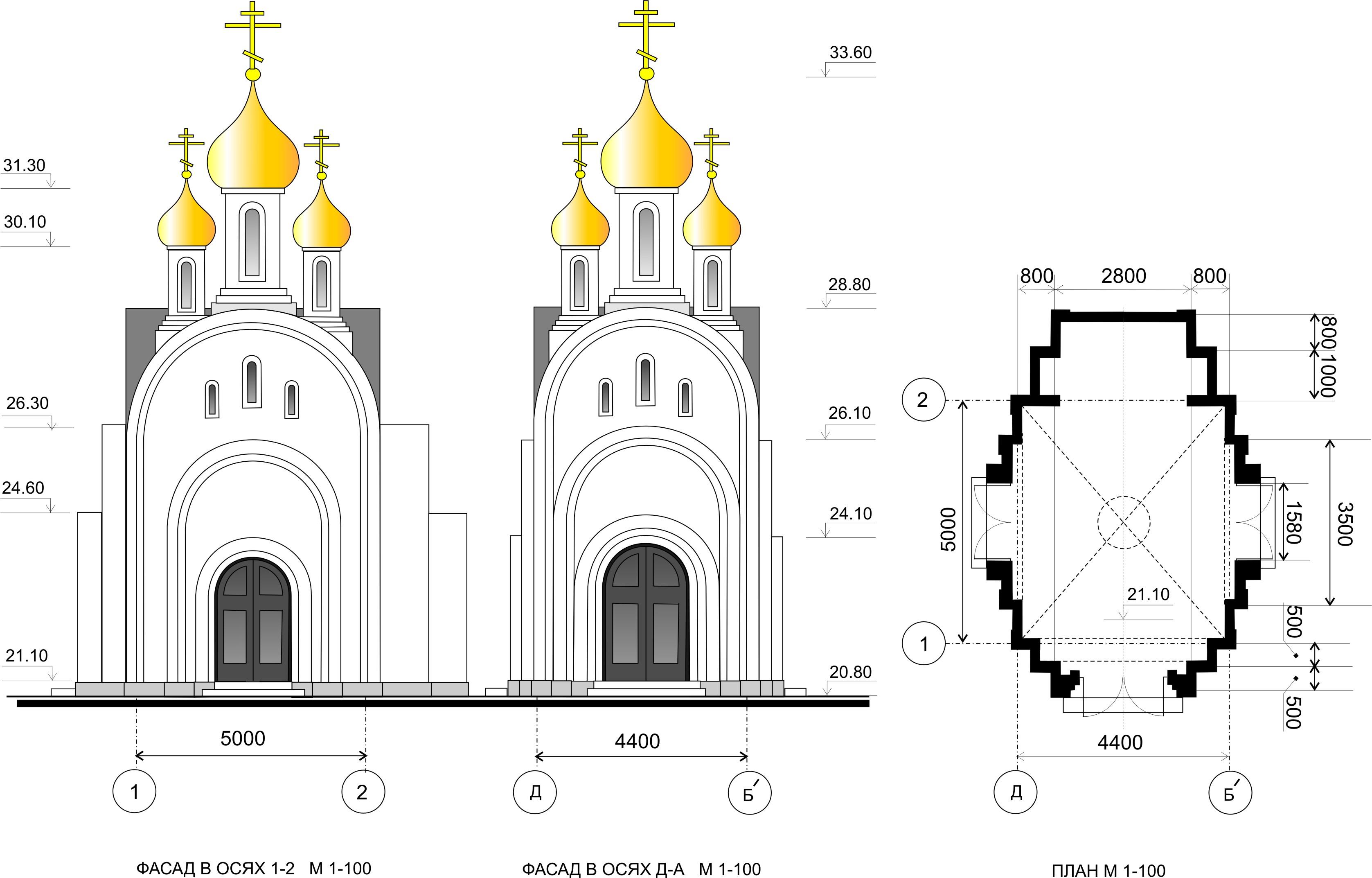 Схемы деревянных храмов