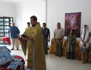 The first Divine Liturgy in Sihanoukville (Cambodia)