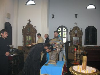 Veneration of the holy relics of St. Nicholas in the Dormition monastery in Ratchaburi