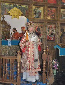 archbishop Mark of Egorievsk at the service in Holy Dormition Orthodox Monastery in Ratchaburi