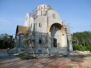 Construction of the Church of the Holy Life-Giving Trinity on Phuket