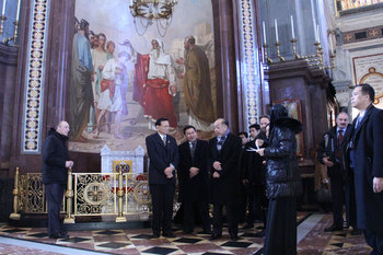 State Delegation of Thailand in Christ the Saviour Cathedral