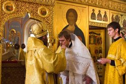 ordination of deacon Alexey Golovin to priesthood