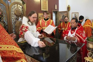 Consecration of the altar in Holy Dormition church