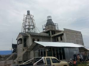 Church of Holy Royal Martyrs construction in Huahin (Aug. 2014)
