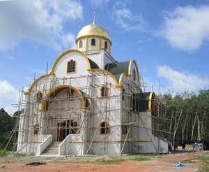 Construction of the church in the name of Holy Life-Giving Trinity (28.07.2011)