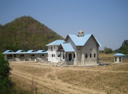 Construction on the temple in honor of the Holy Dormition of Our Lady in Ratchaburi province(06.04.2010)