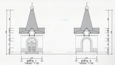 The project is a chapel in honor of the Mother of God «Iver»
