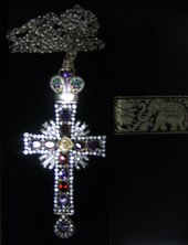 Diamond pectoral cross